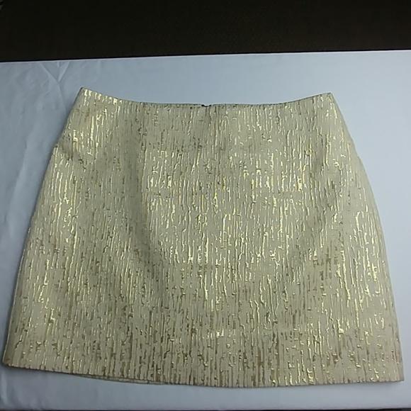 d423c2b5d5 BCX Skirts | Gold Brocade Metallic Print Mini Skirt Sz 78 | Poshmark